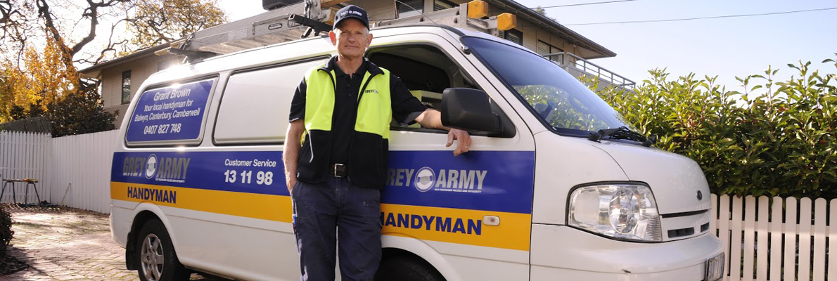Grey Army Handyman